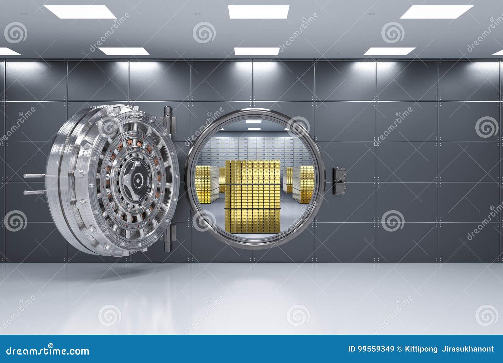 Раскрытое банковское хранилище