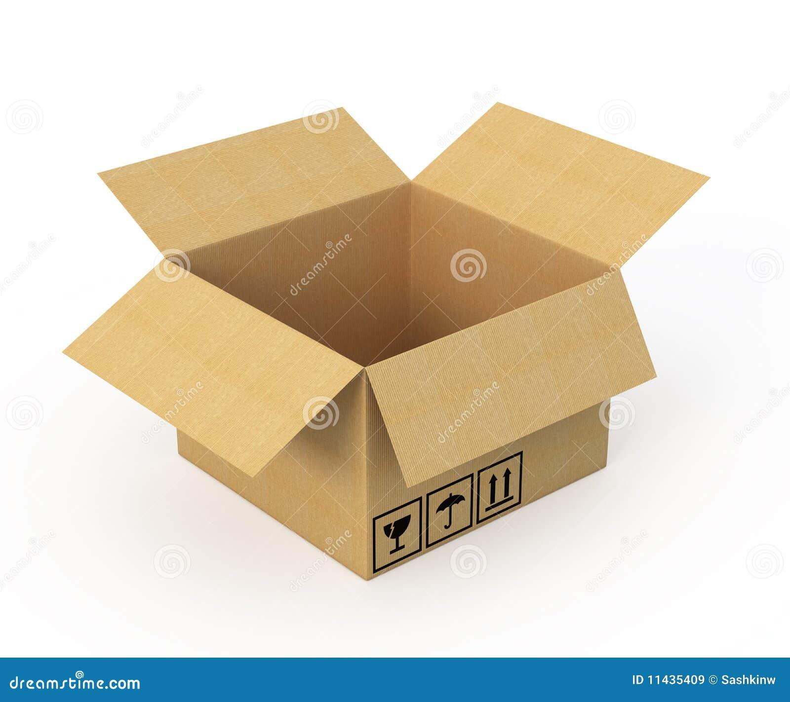 раскрытый картон коробки