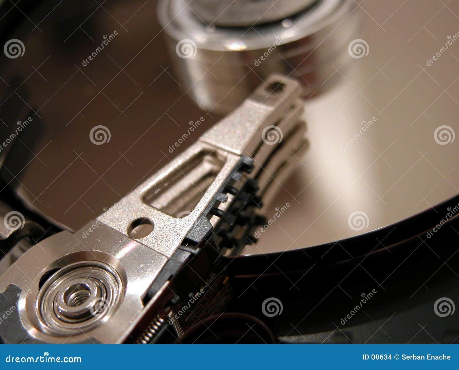 раскрытый hard диска