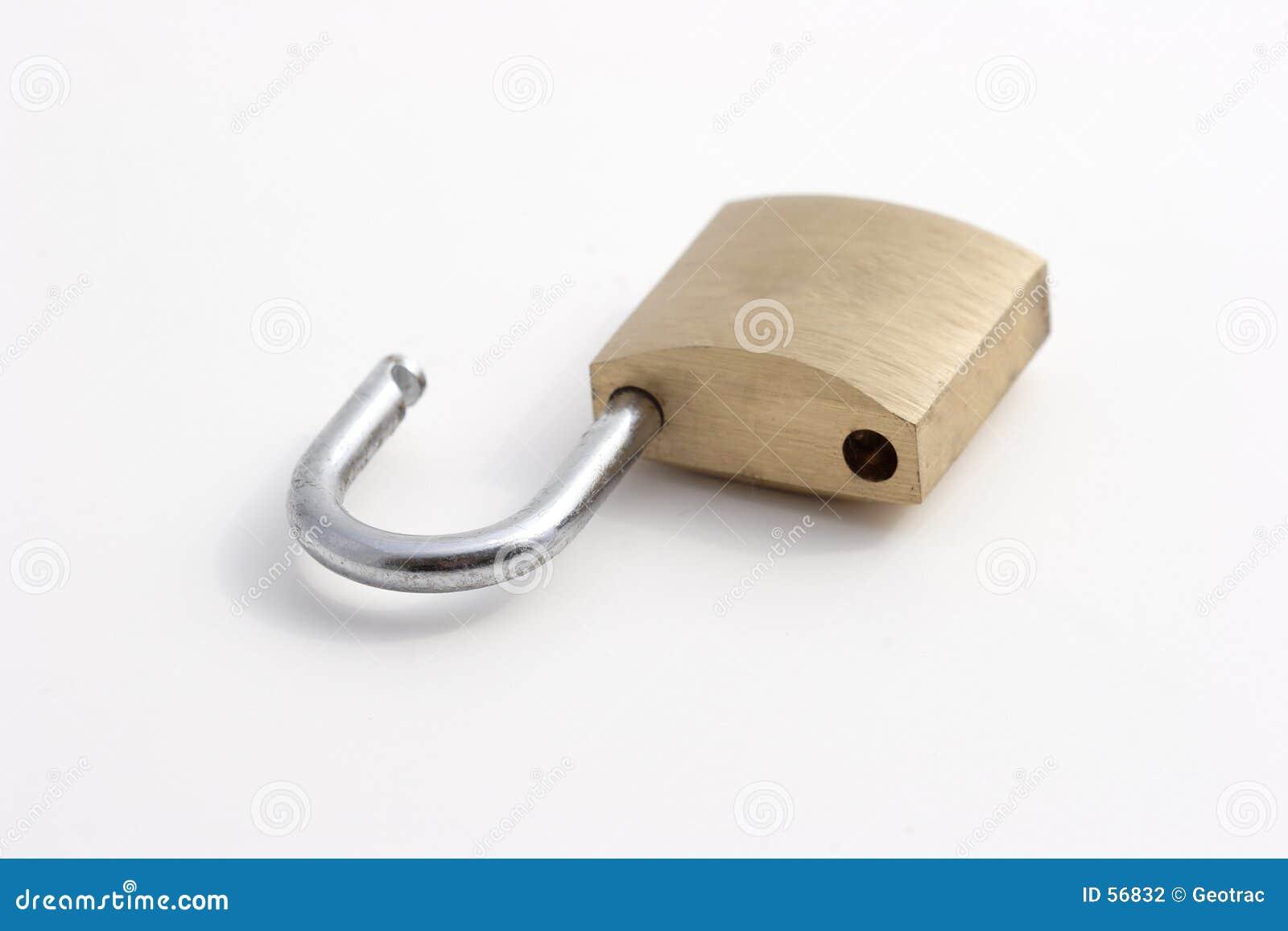 раскрытый padlock
