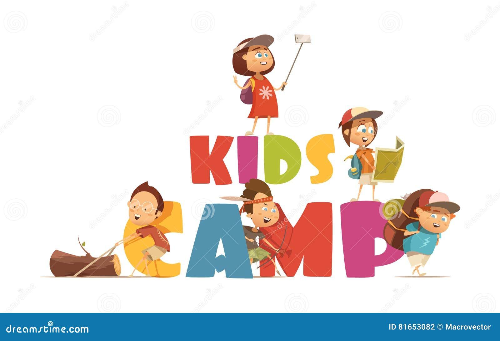 Располагаясь лагерем концепция детей