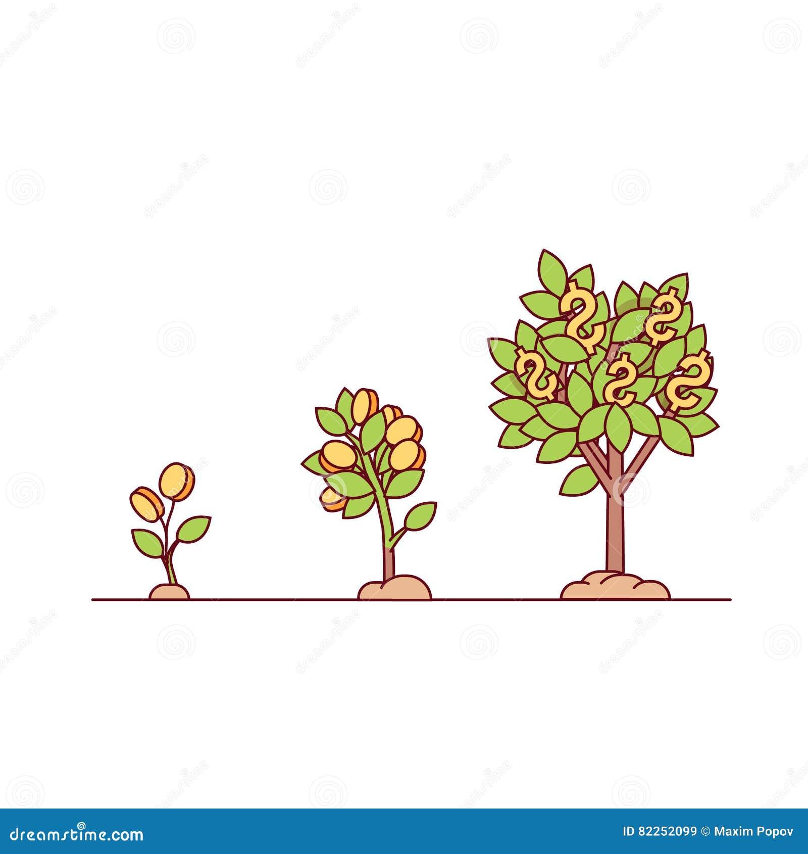Растущее дерево денег