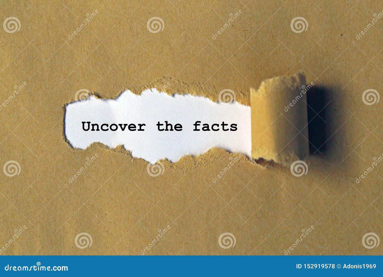 Расчехлите факты
