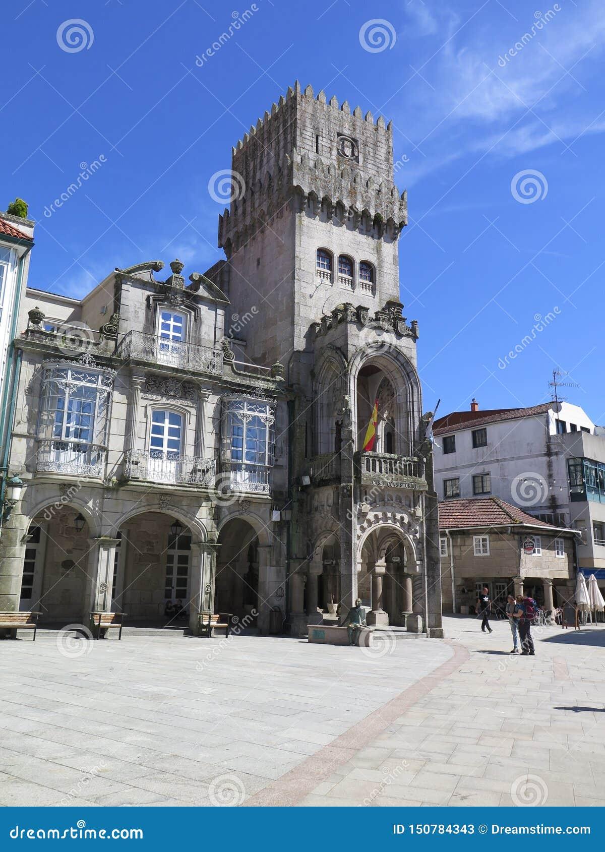 Ратуша в porrino o в западной Испании