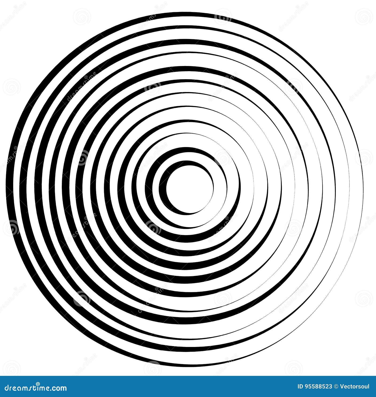 Радиальные линии с вращая искажением Абстрактная спираль, вортекс s