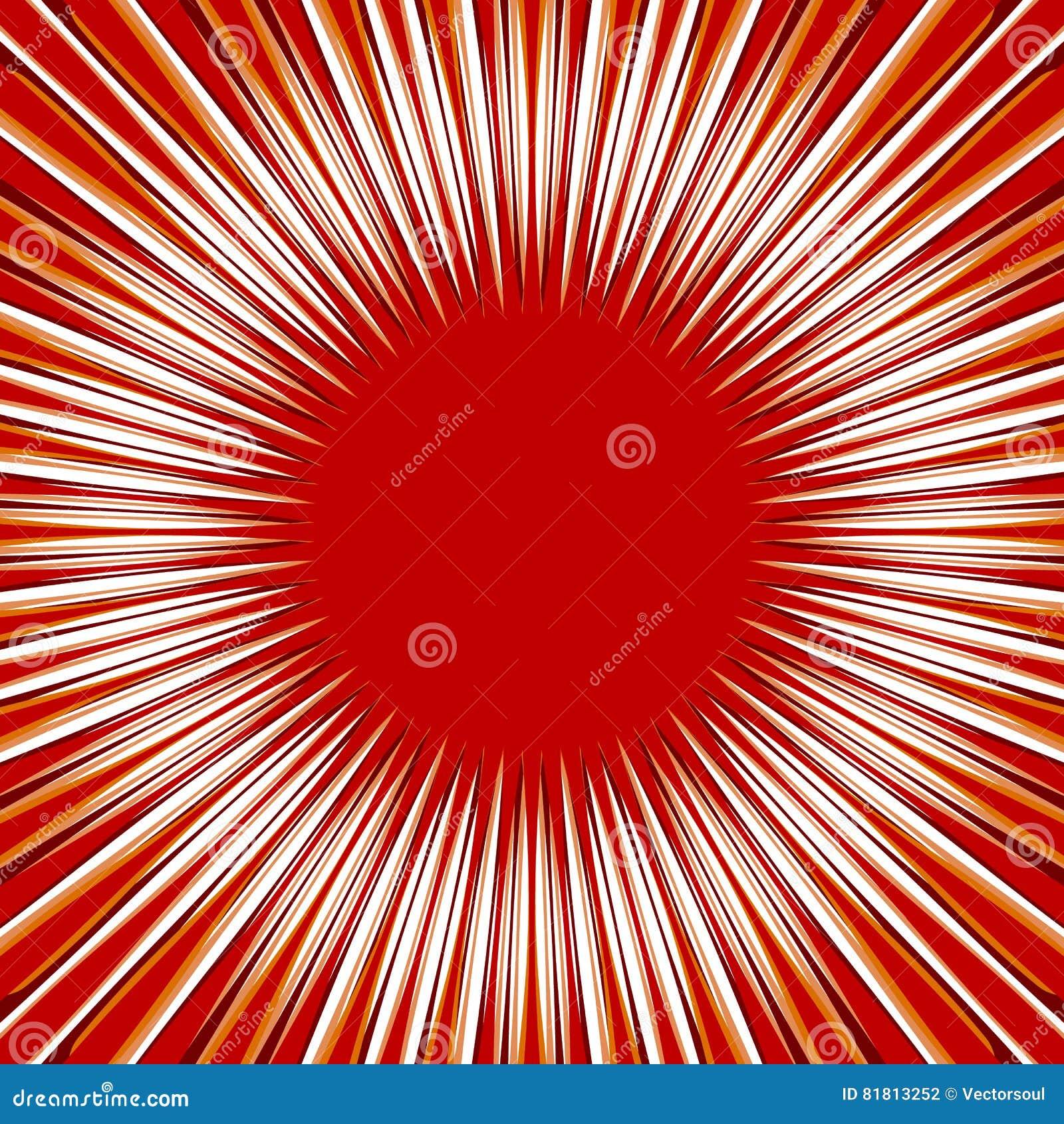 Радиальные линии, лучи, испускают лучи круговая картина Sunburst, starburst