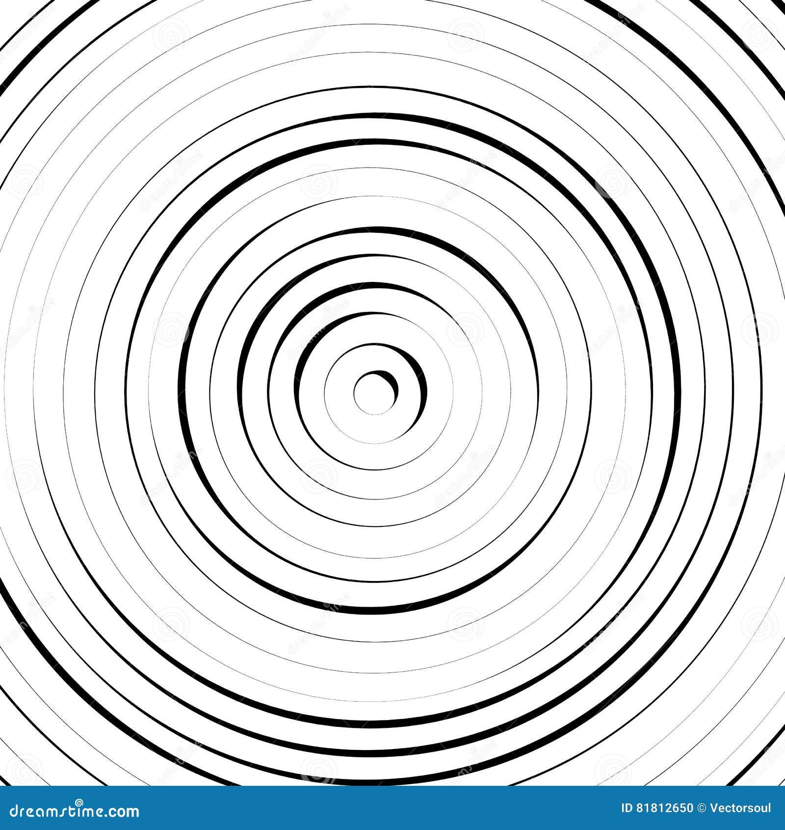 Радиальные концентрические круги с солдатом нерегулярной армии, динамические линии Abstrac