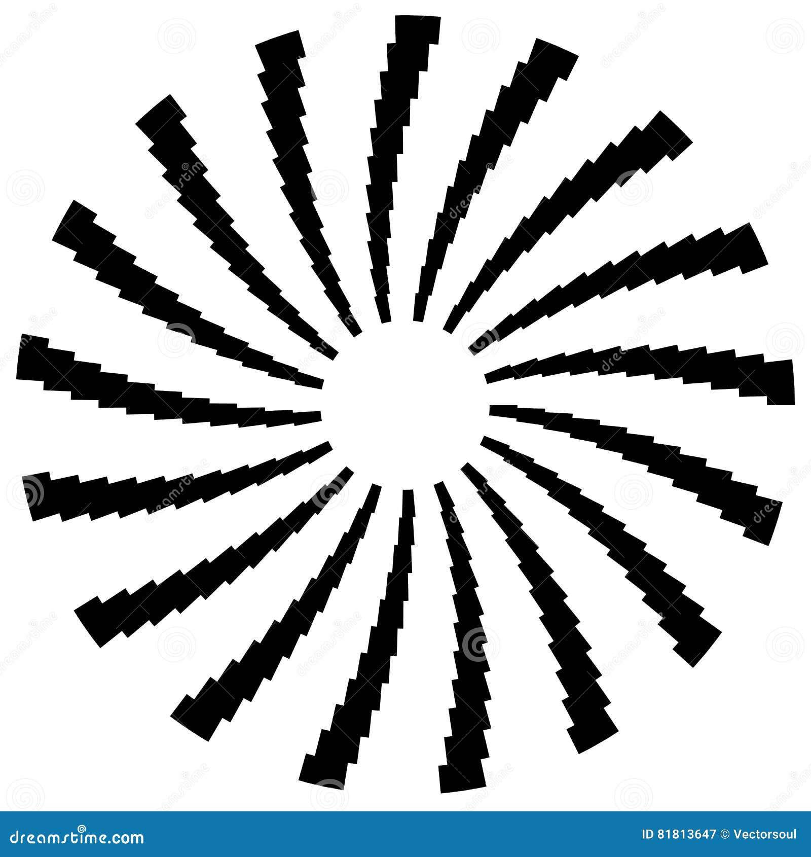 Радиальный круговой элемент Геометрические круги прямоугольников