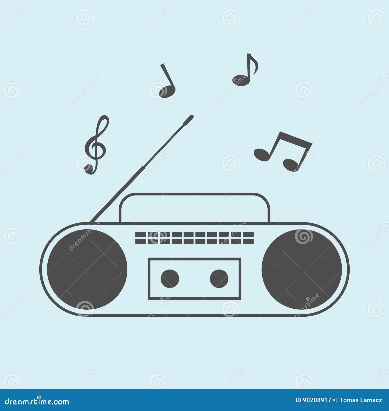 Радио с примечаниями музыки