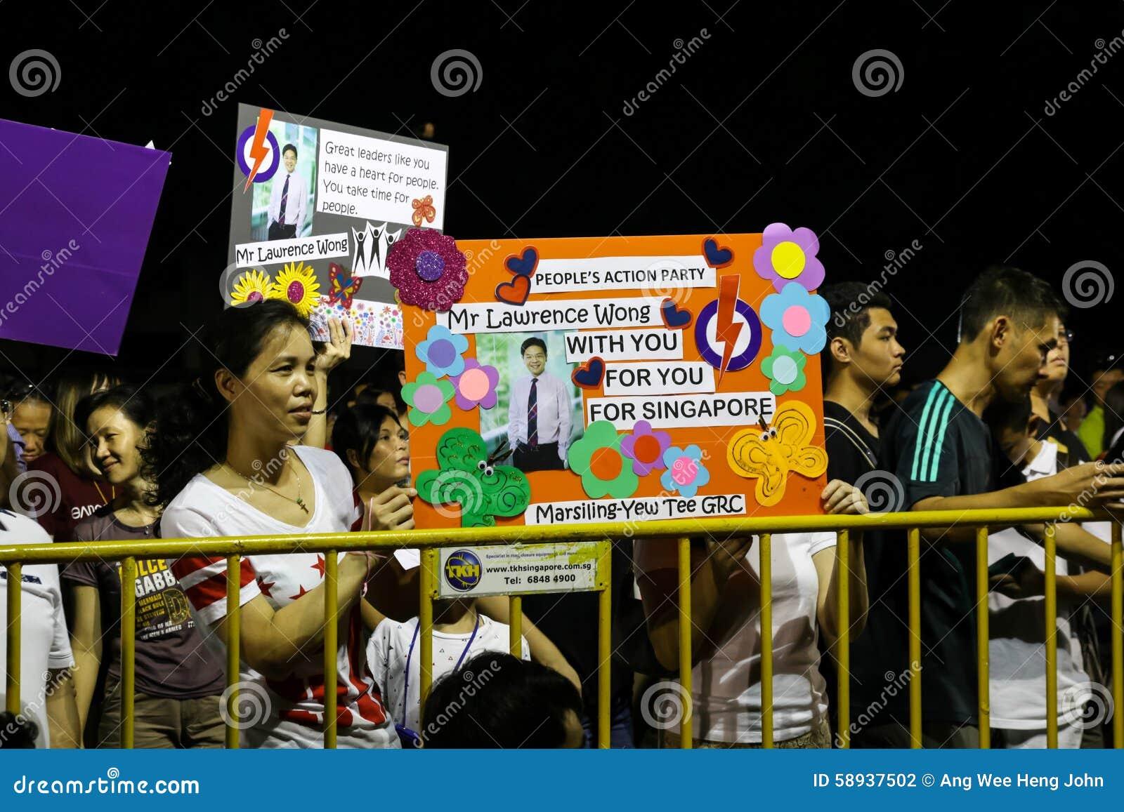 Ралли 2015 ПЮРЕ всеобщих выборов Сингапура