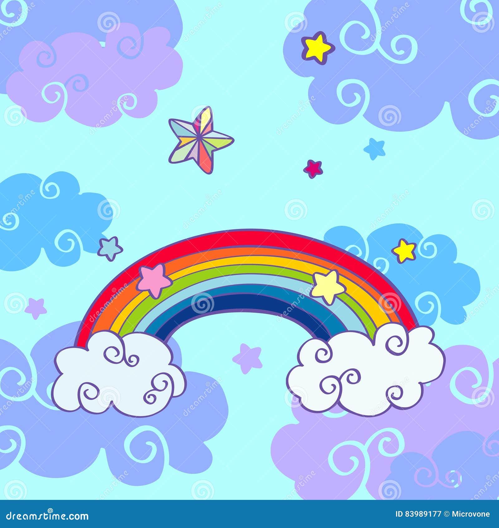 картинки радуга нарисованные