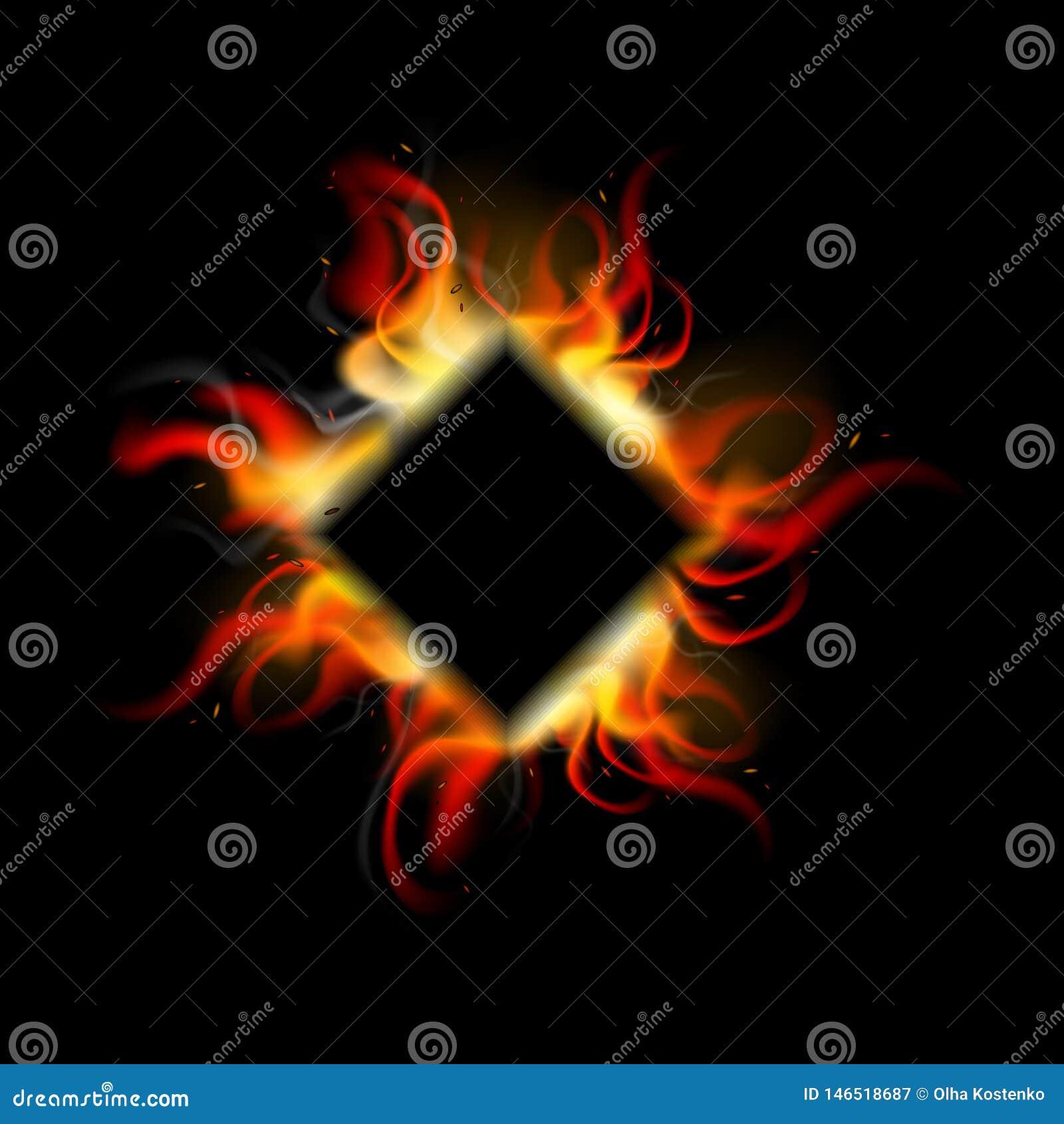 Реалистическая предпосылка огня в косоугольнике r