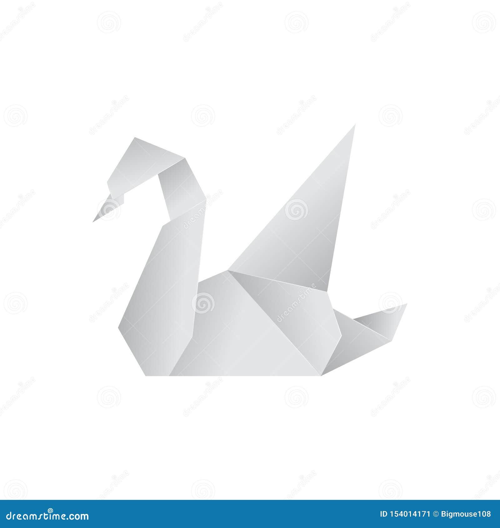 Реалистический детальный лебедь 3d Origami бумажный животный r
