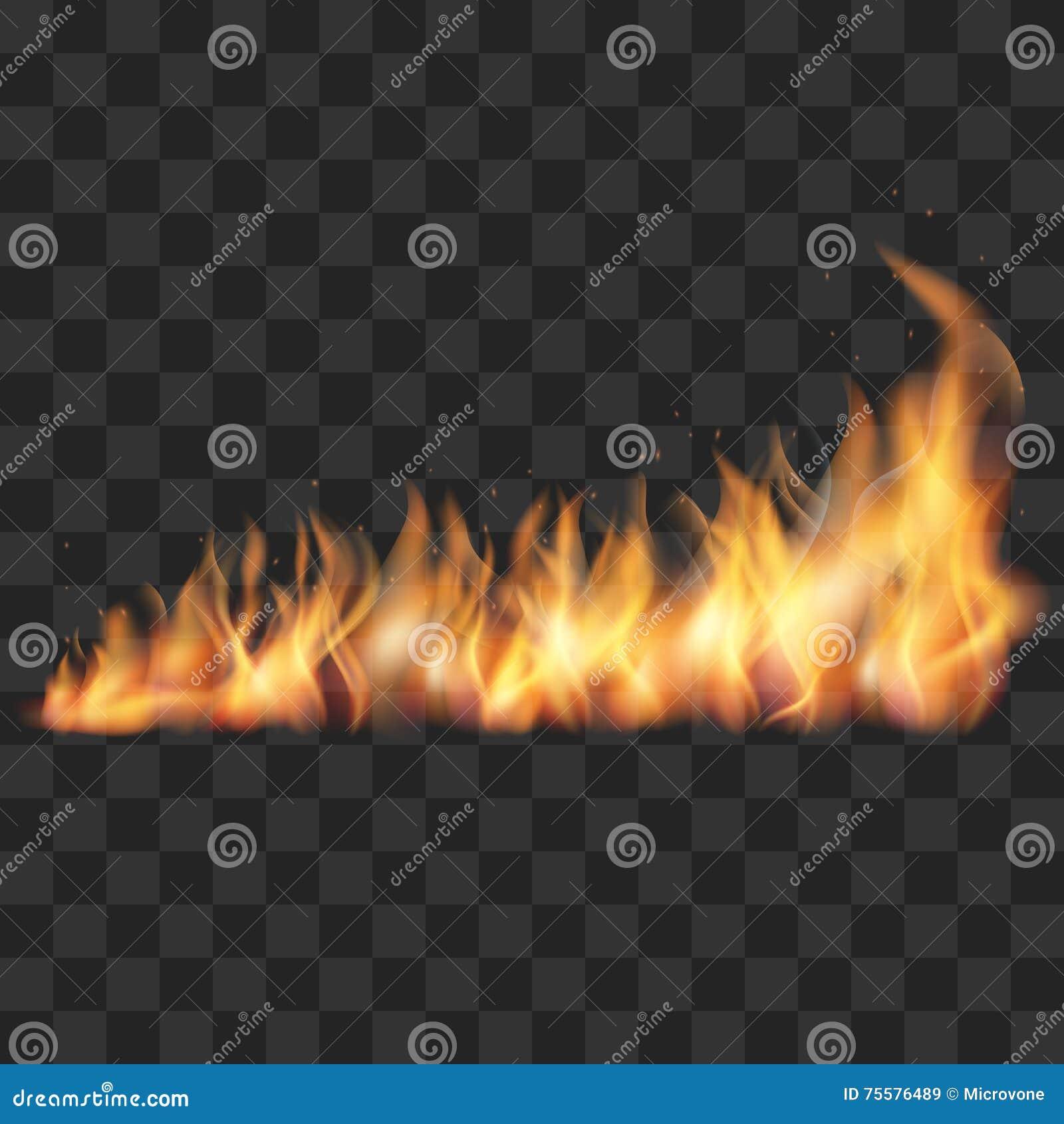 Реалистическая иллюстрация вектора следа огня