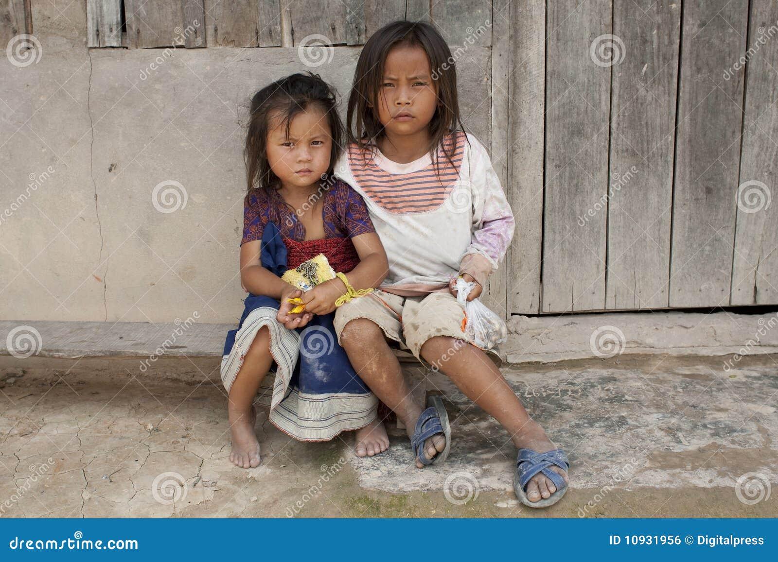ребенок Лаос Азии