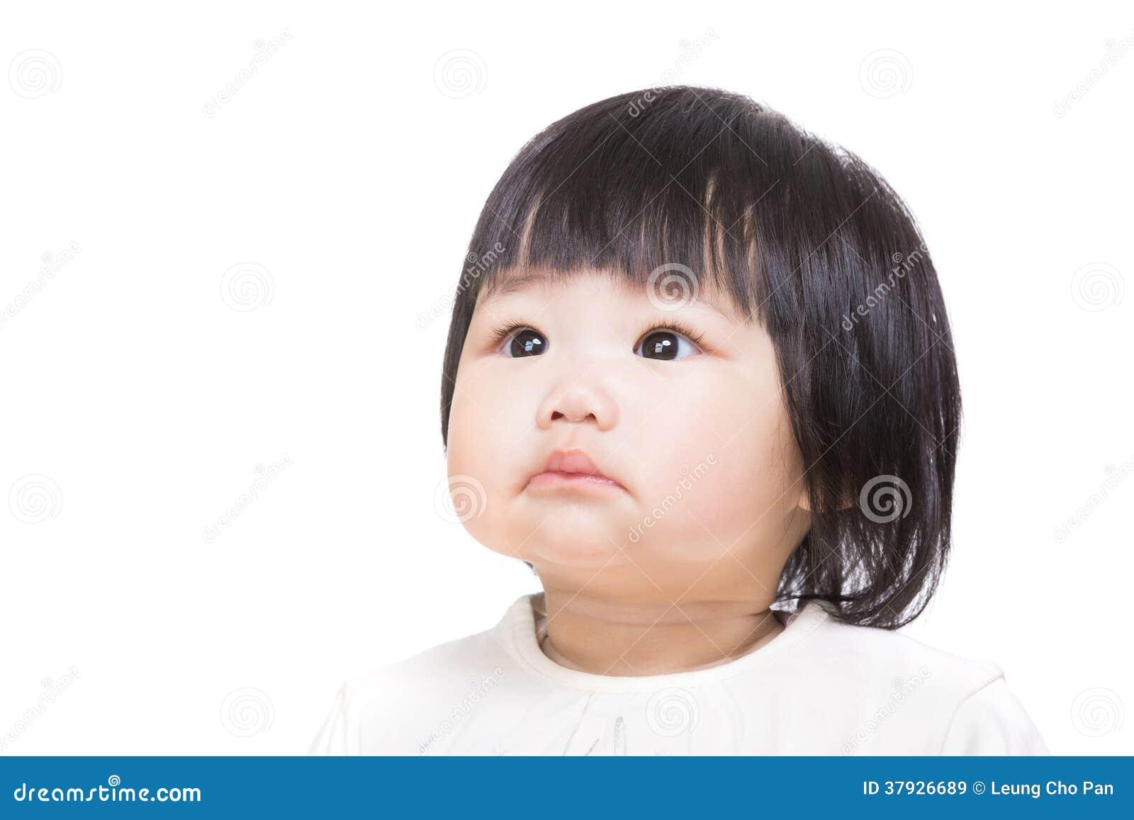 Ребёнок Азии смотря в сторону