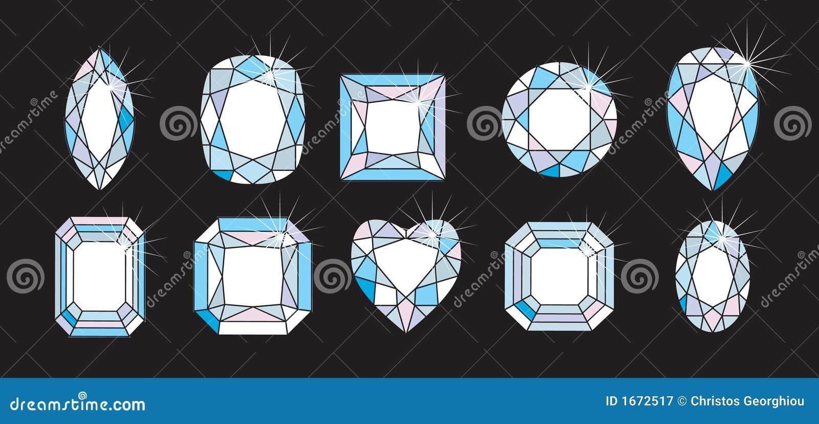 режет формы диаманта