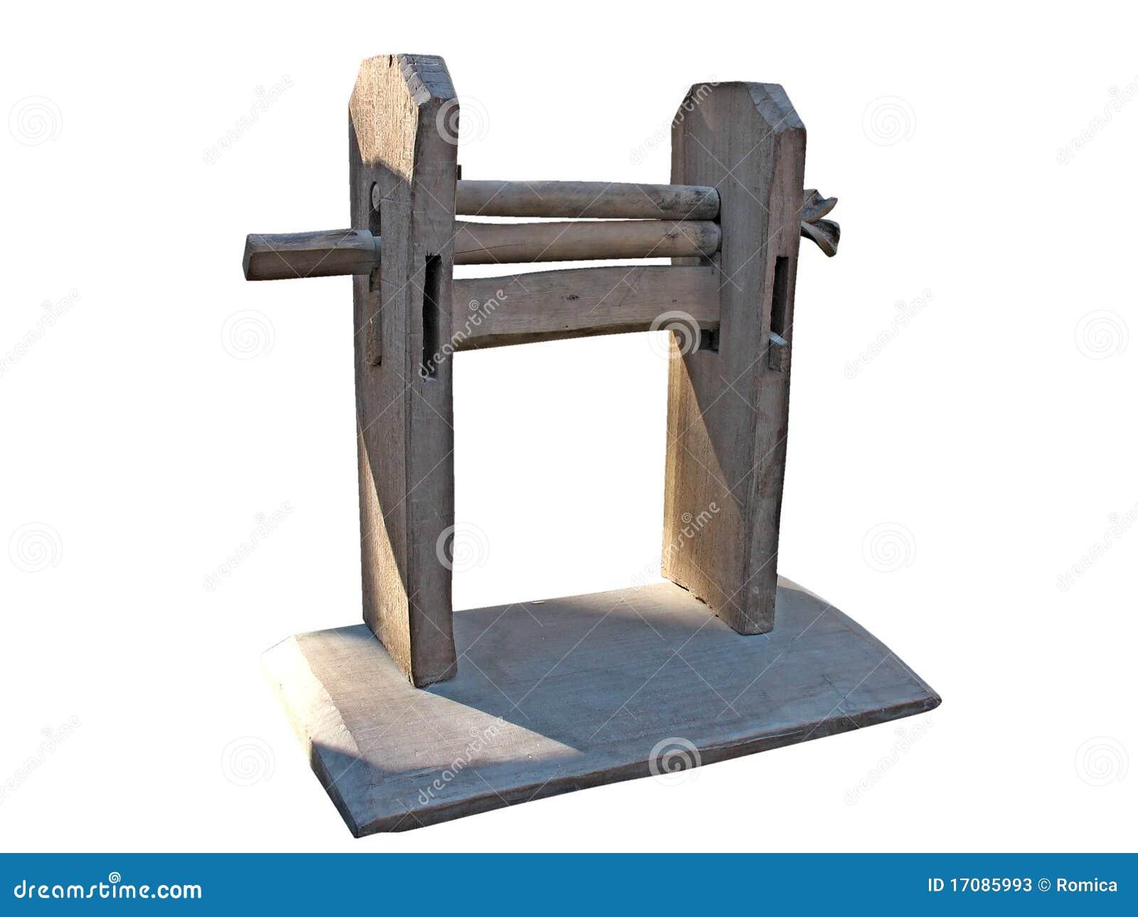 резать изолированные шерсти сбора винограда механического инструмента деревянные