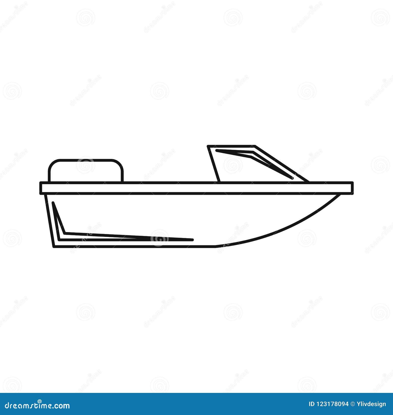 Резвит значок powerboat, стиль плана
