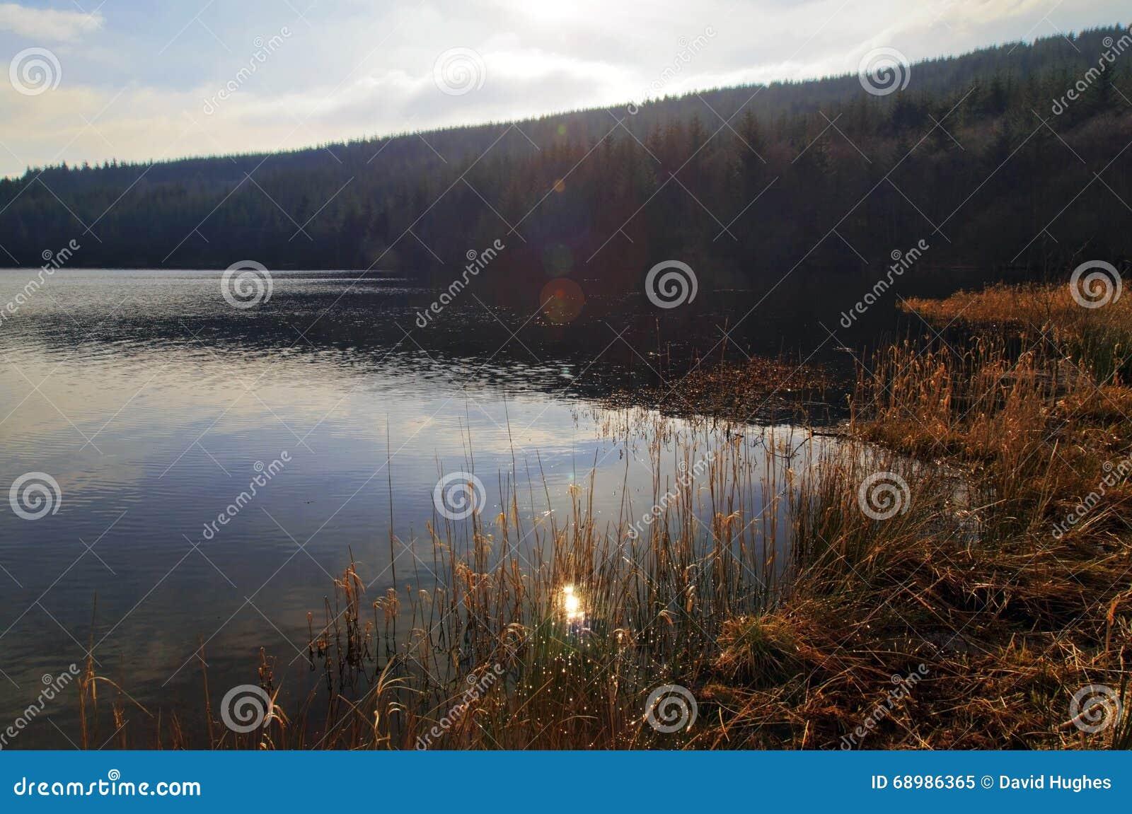 Резервуар Cantref, Nant-ddu, Brecon светит национальный парк