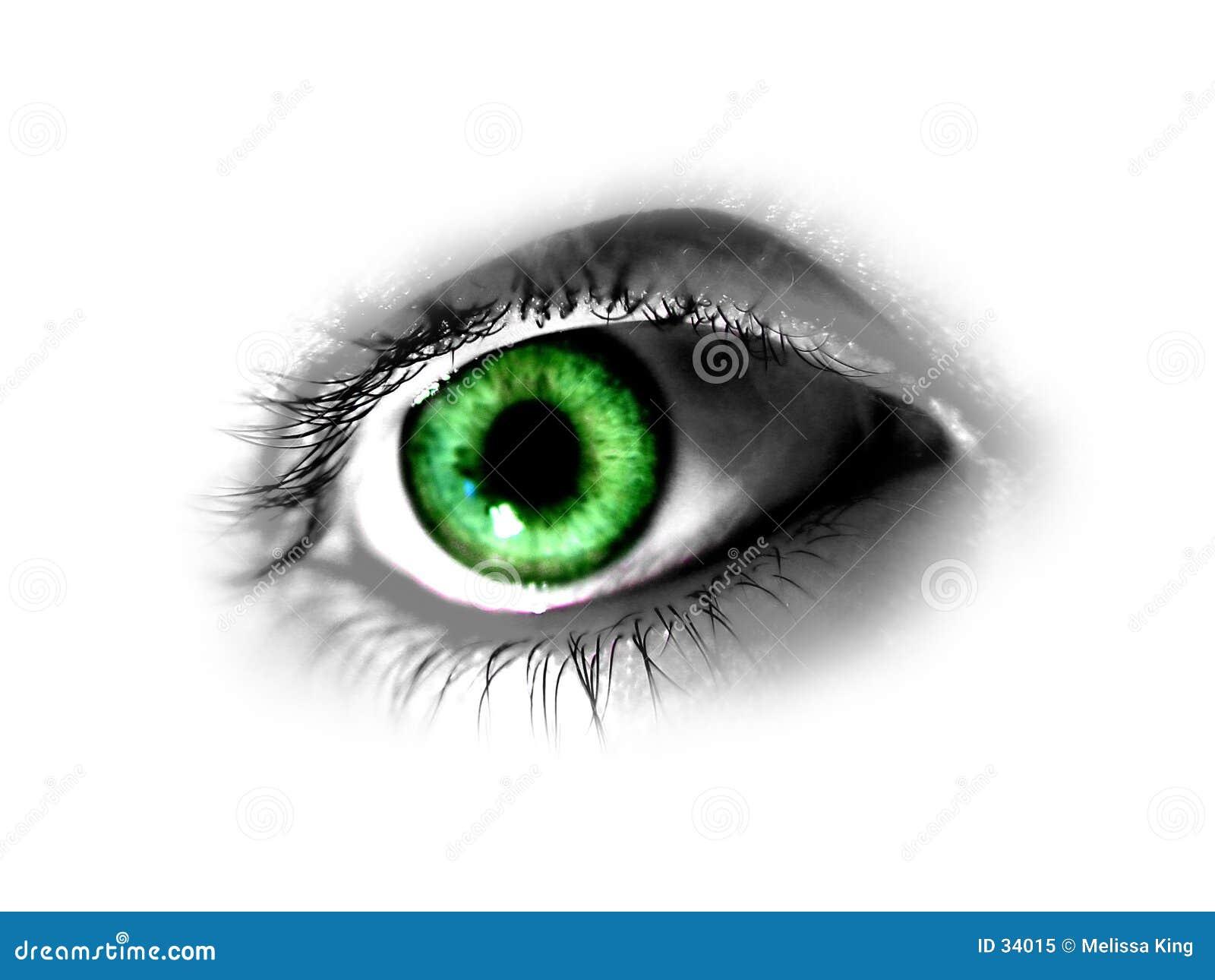резюмируйте зеленый цвет глаза