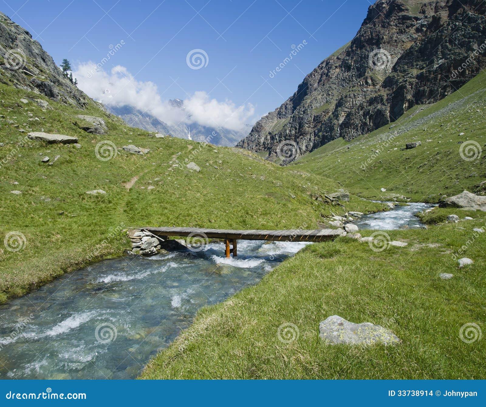 Река в Альпах