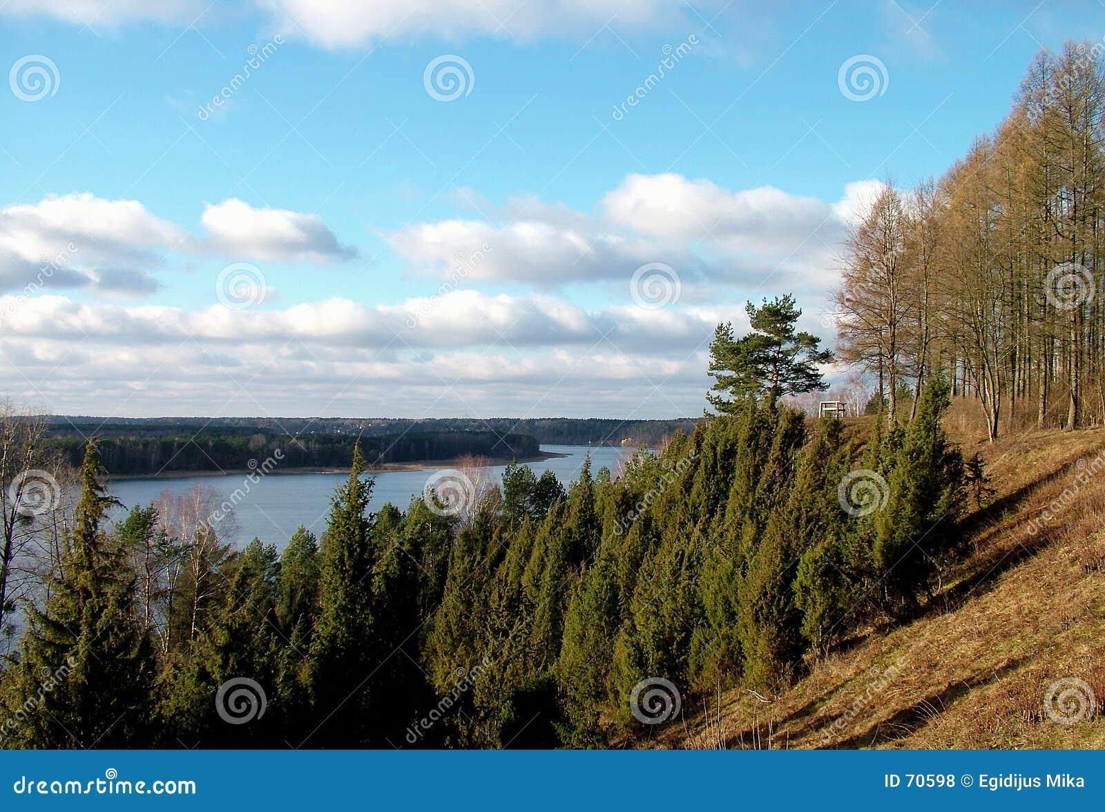 река ландшафта