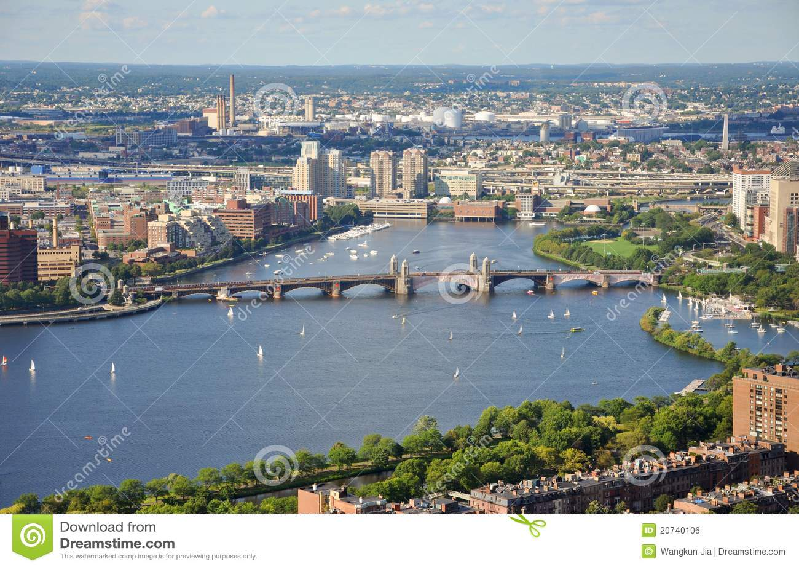 река longfellow charles моста boston