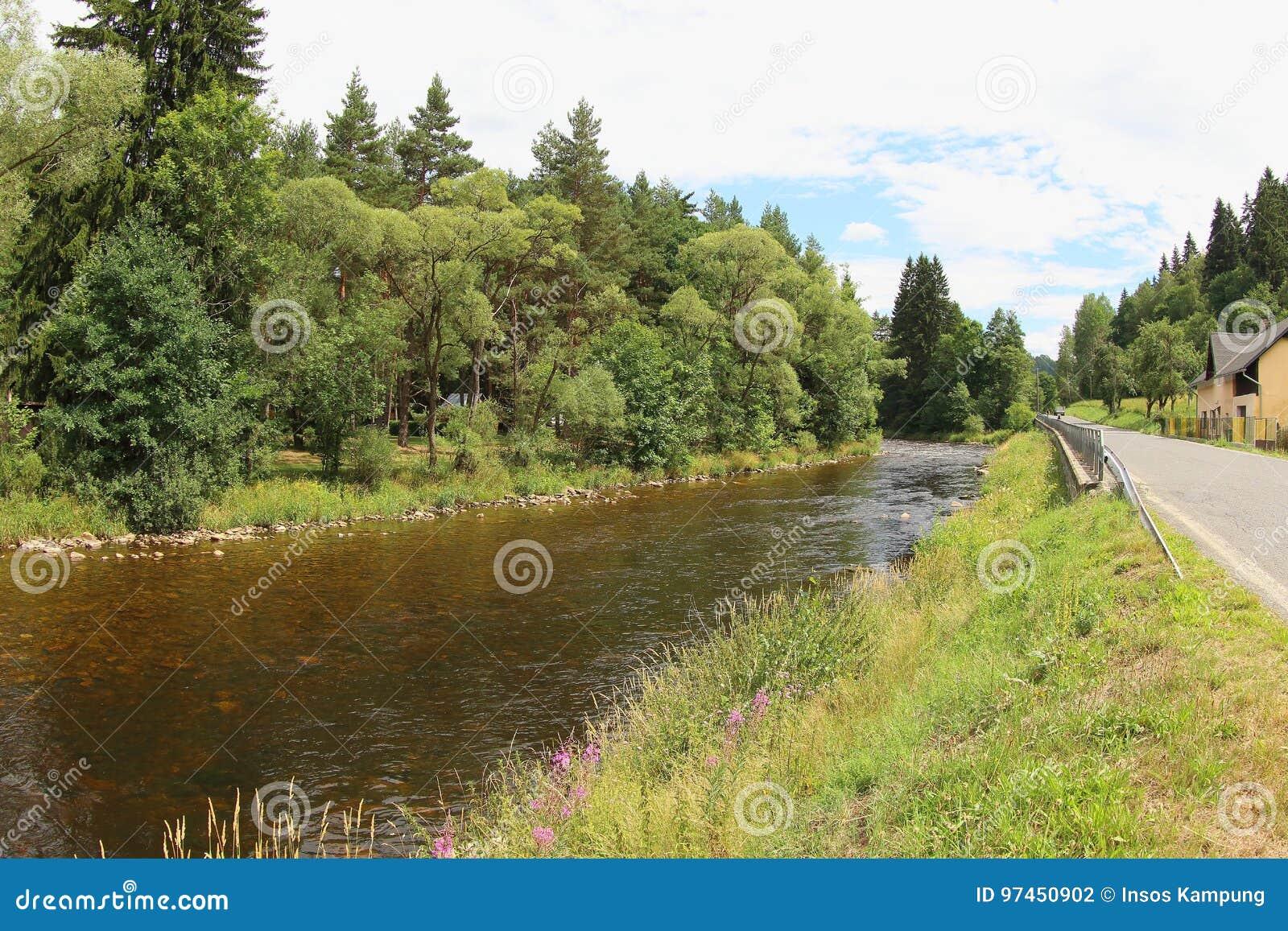Река Otava, чехия