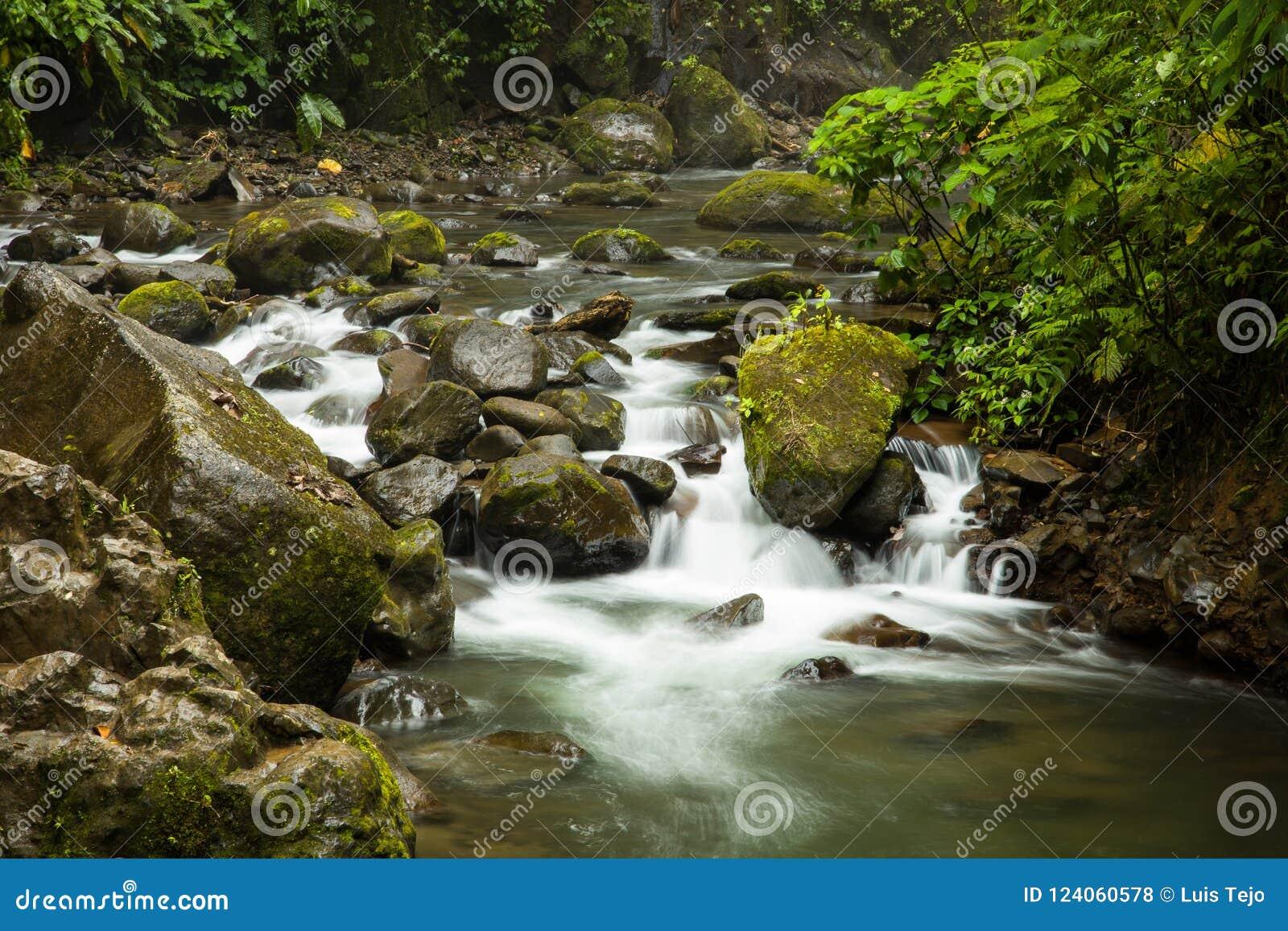Река Paz Ла сфотографированное в Коста-Рика
