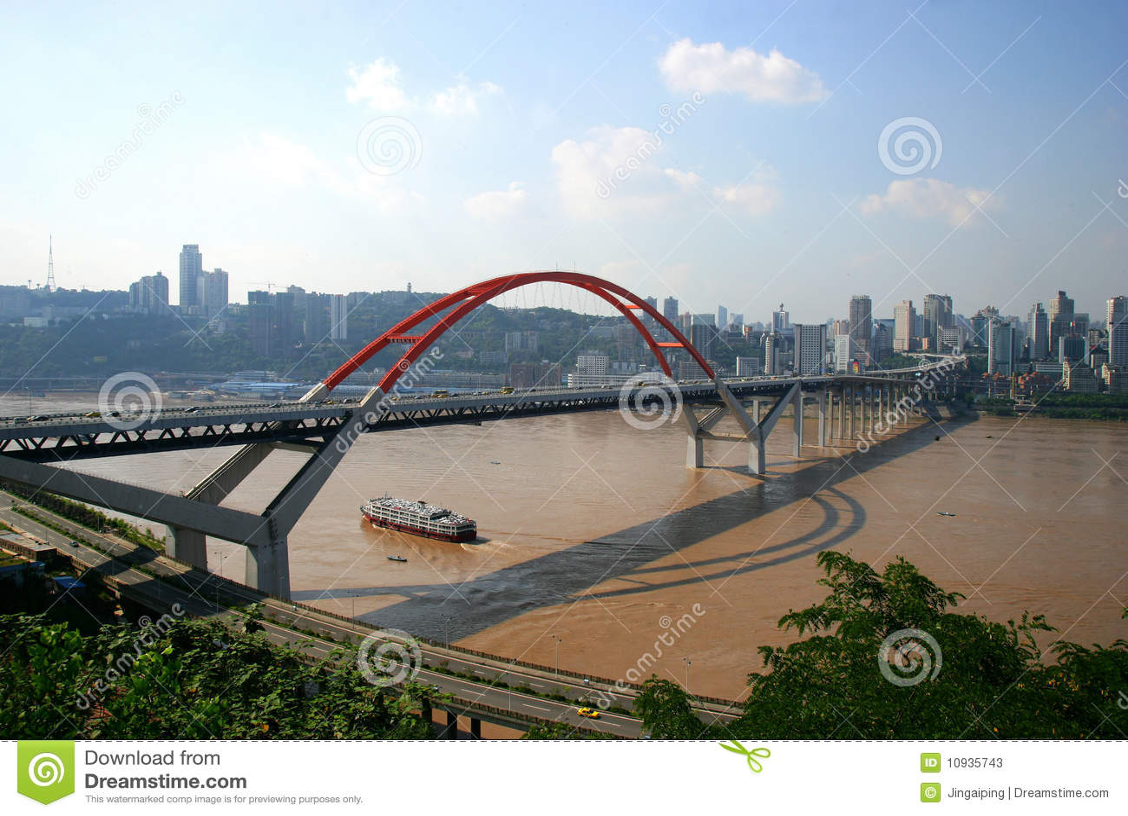 река yangtze chongqing caiyuanba моста