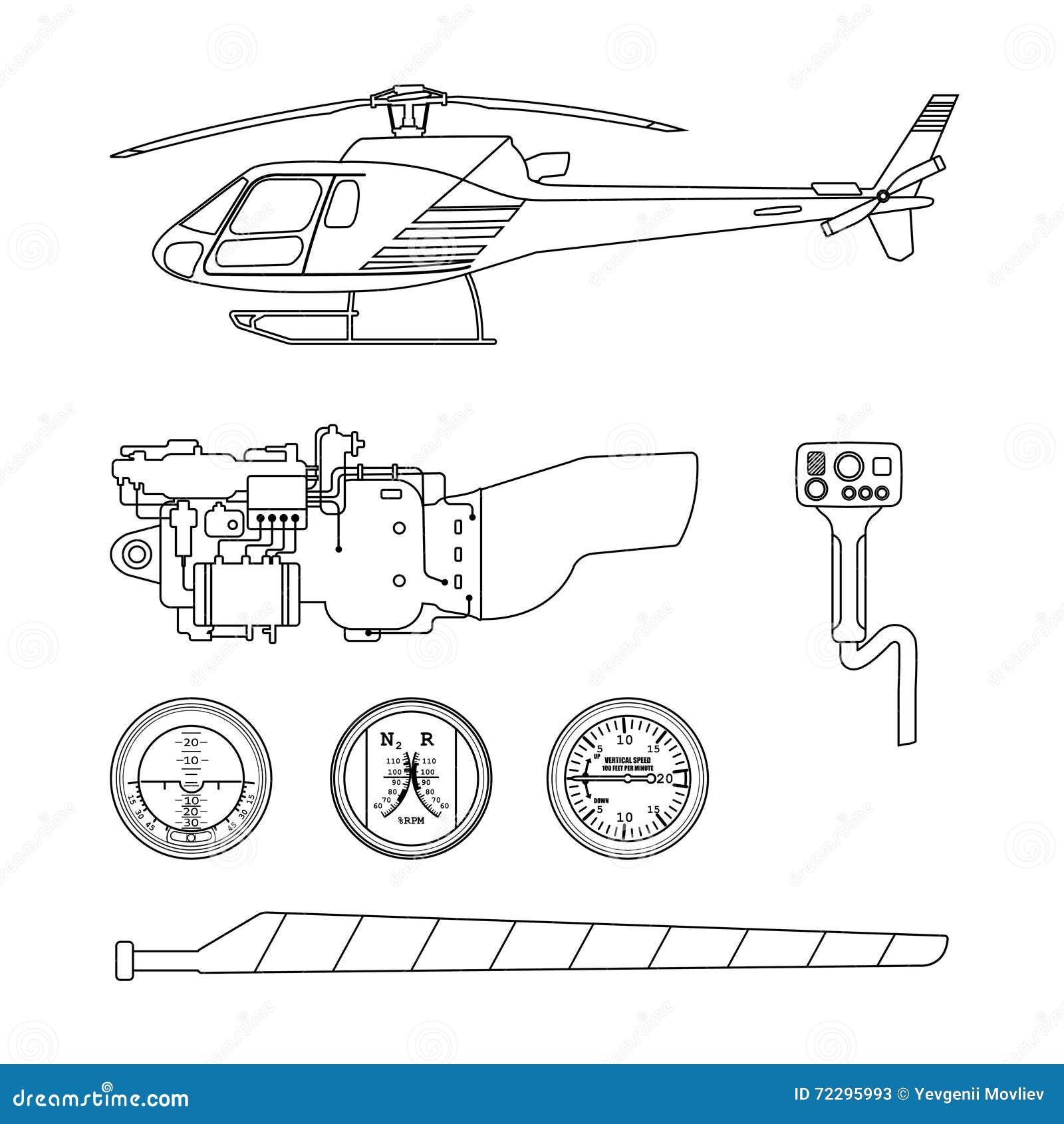 Download Ремонт и обслуживание вертолета Комплект частей Helico Иллюстрация вектора - иллюстрации насчитывающей двигатель, кокпит: 72295993