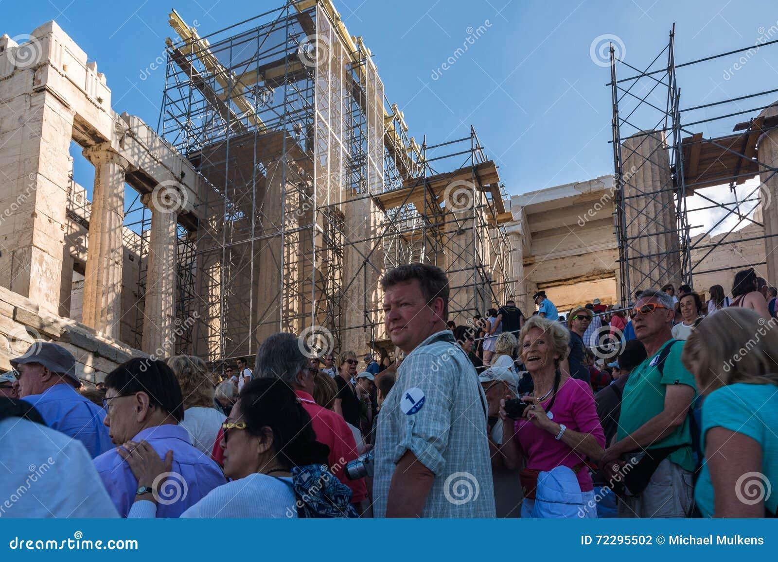 Download Реновация акрополя, Афины, Греция Редакционное Фотография - изображение насчитывающей строя, cityscape: 72295502