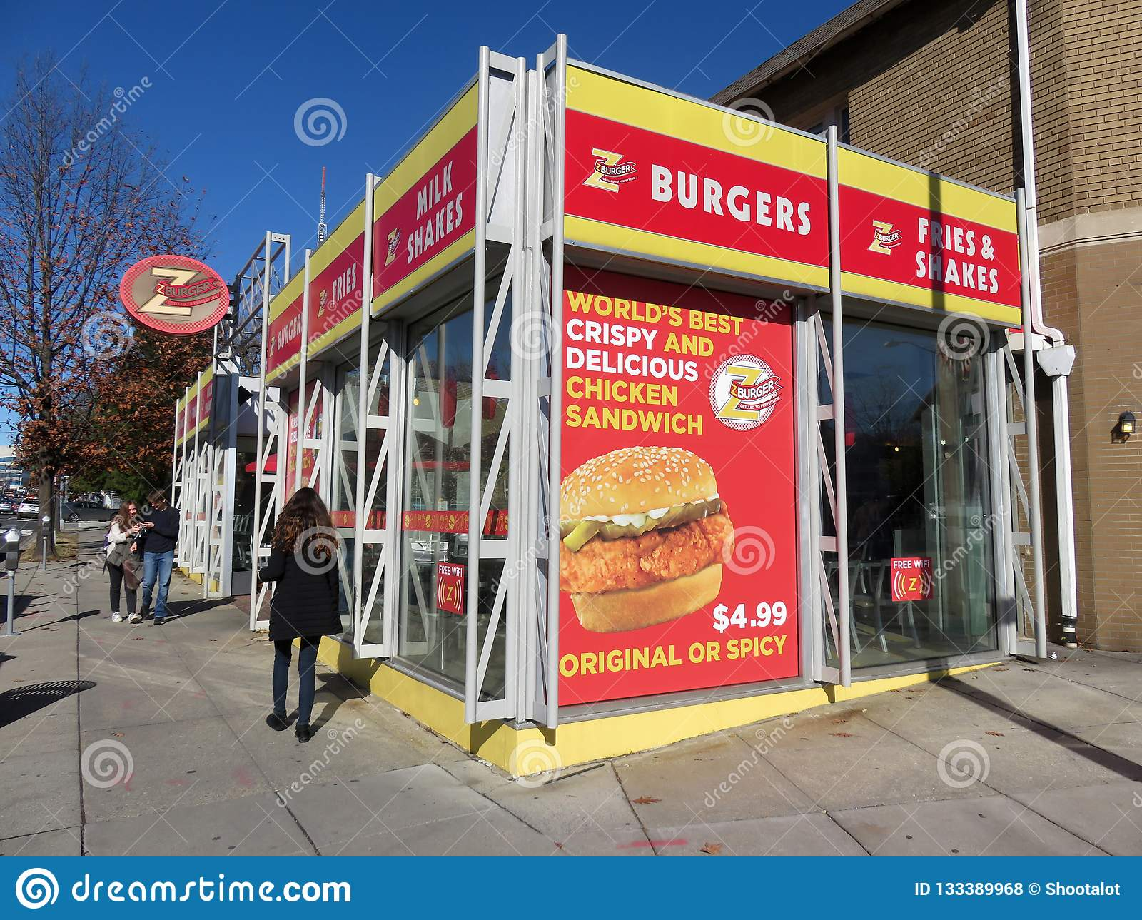 Ресторан фаст-фуда бургера z в Tenleytown