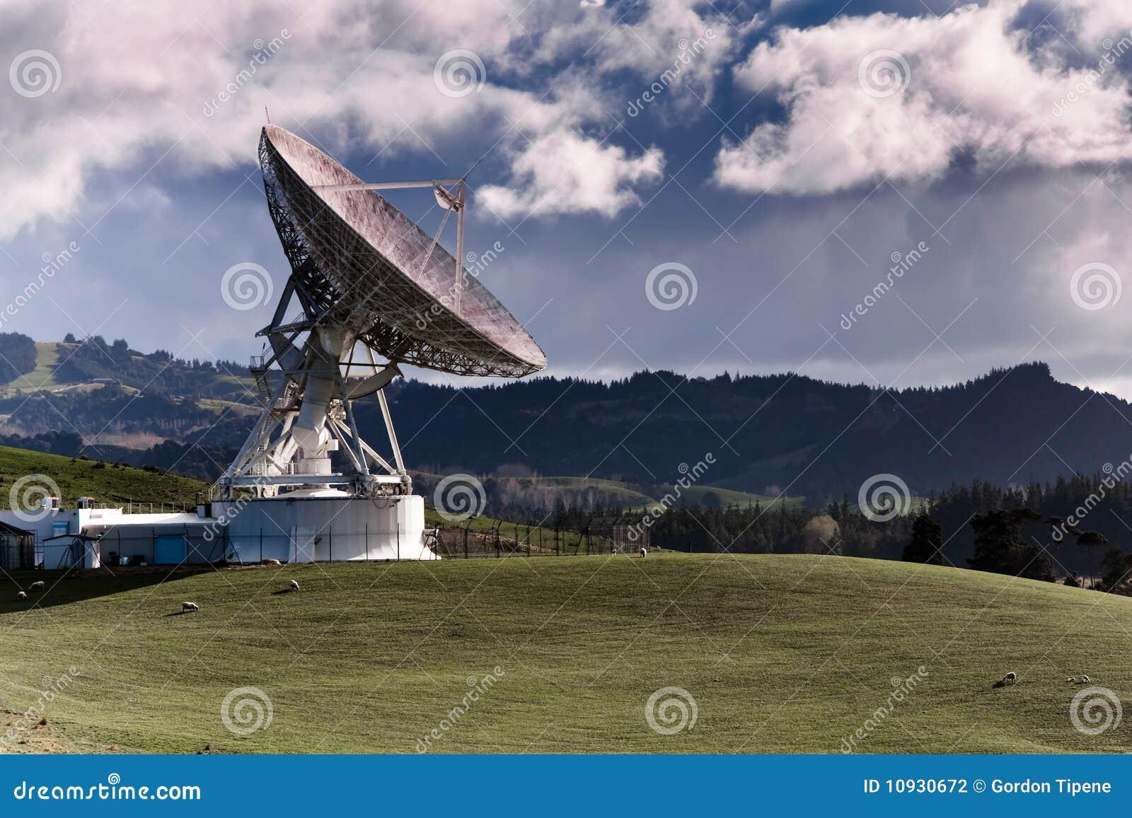 ретрансляционная станция тарелки большая