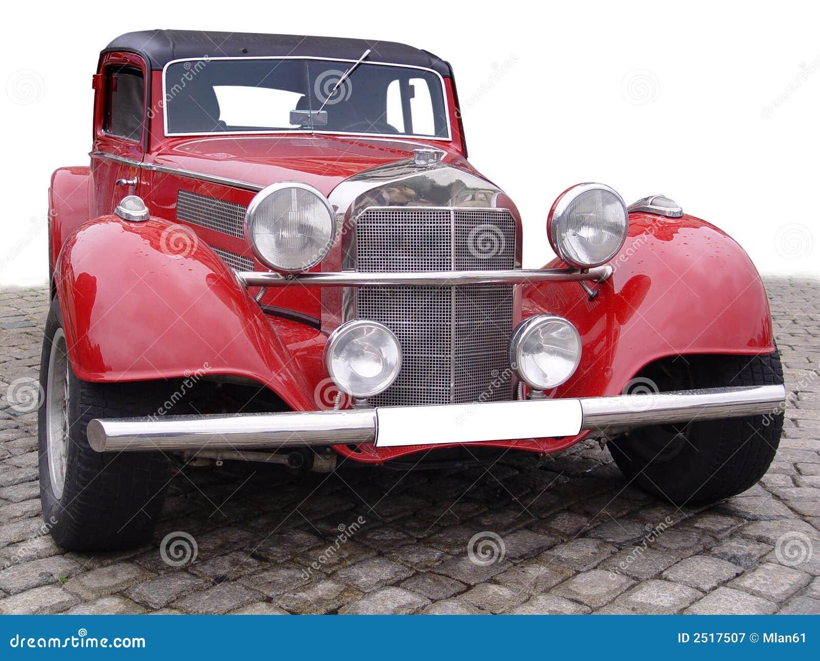 ретро автомобиля красное