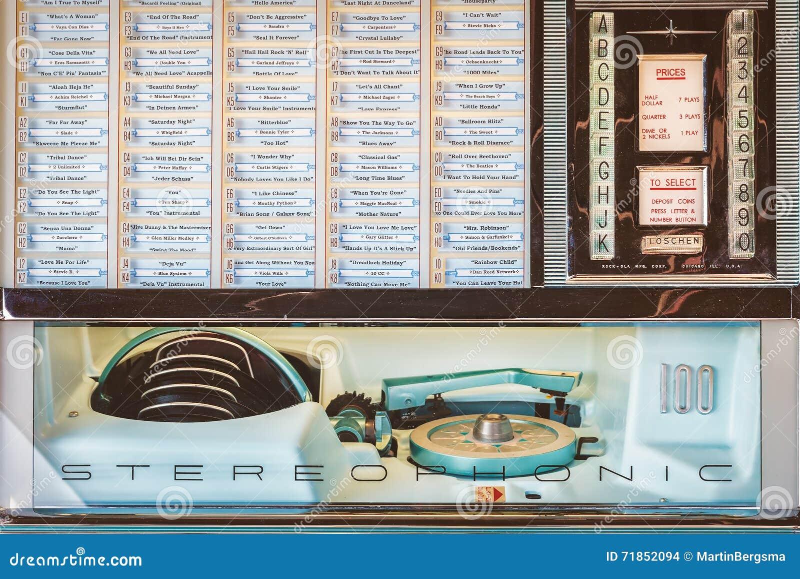 Ретро введенное в моду изображение старого музыкального автомата