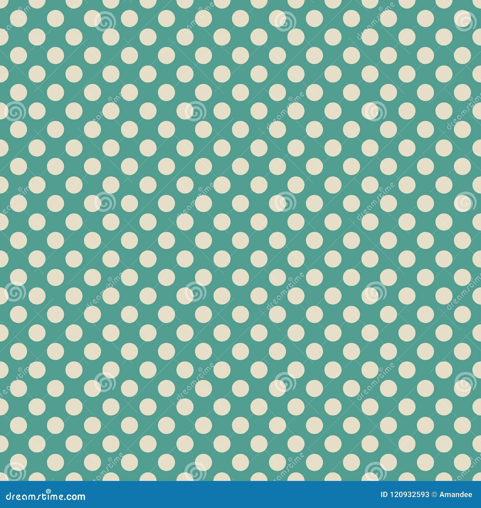 Ретро голубой зеленый цвет и светлое бежевое или с белого дизайна картины предпосылки обоев точки польки