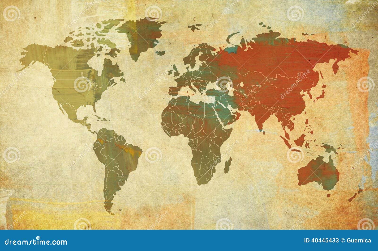 Ретро карта мира