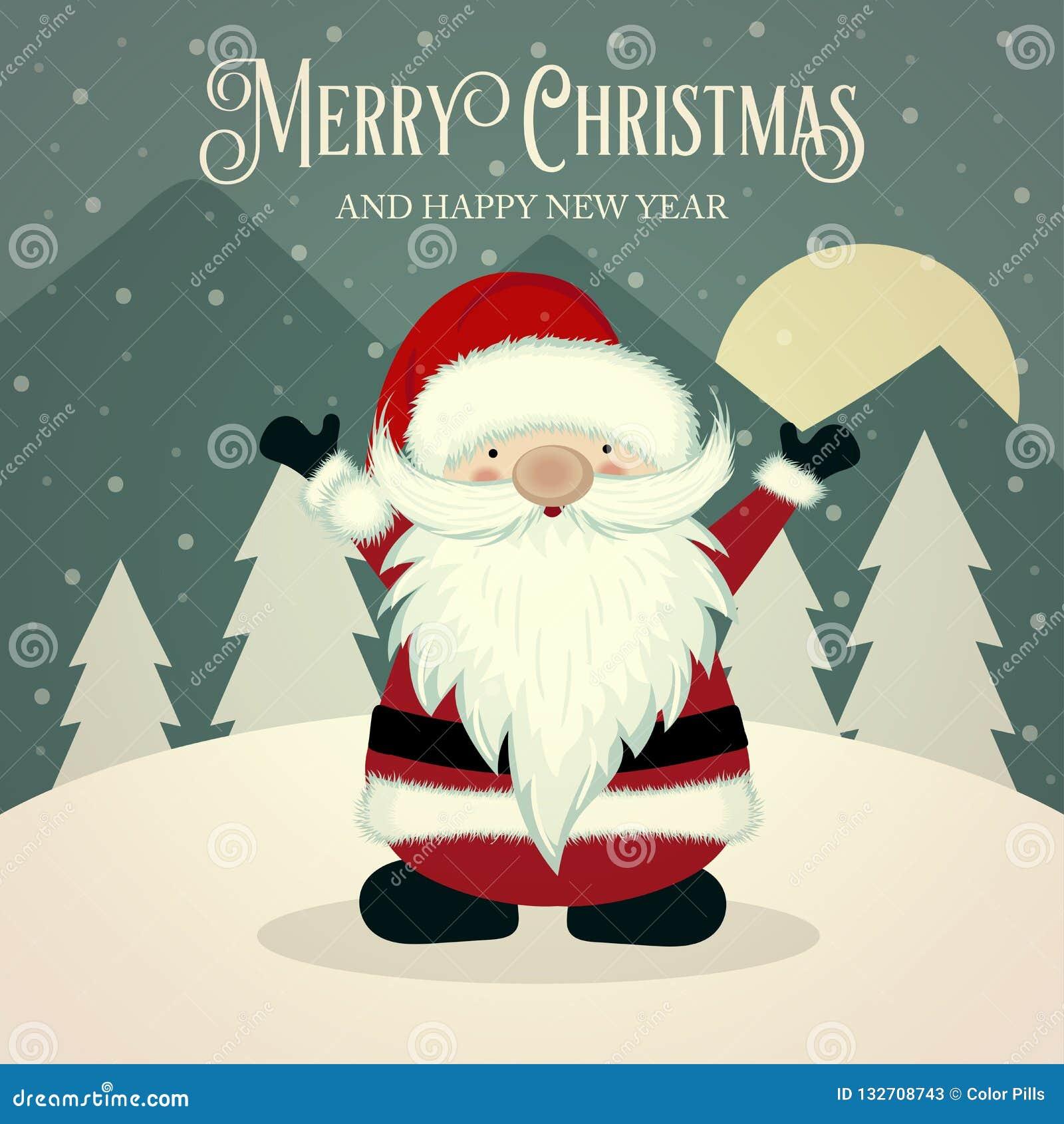 Ретро плакат Санта