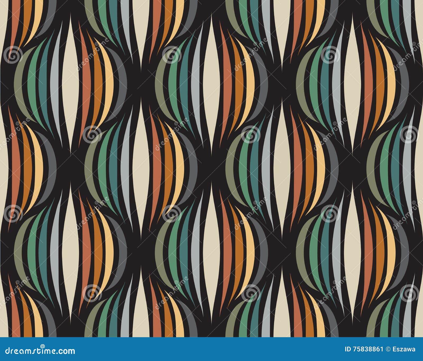 Ретро повторяющийся обои - винтажная картина вектора