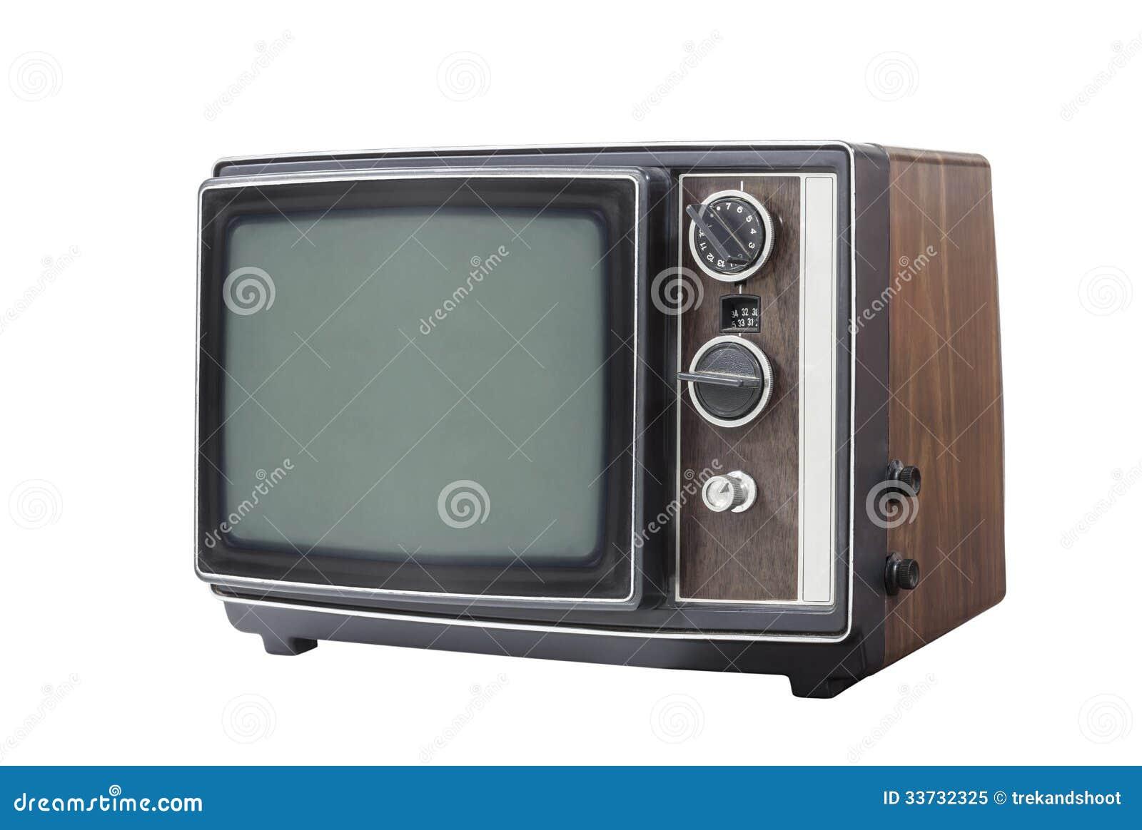Ретро портативный изолированный телевизор