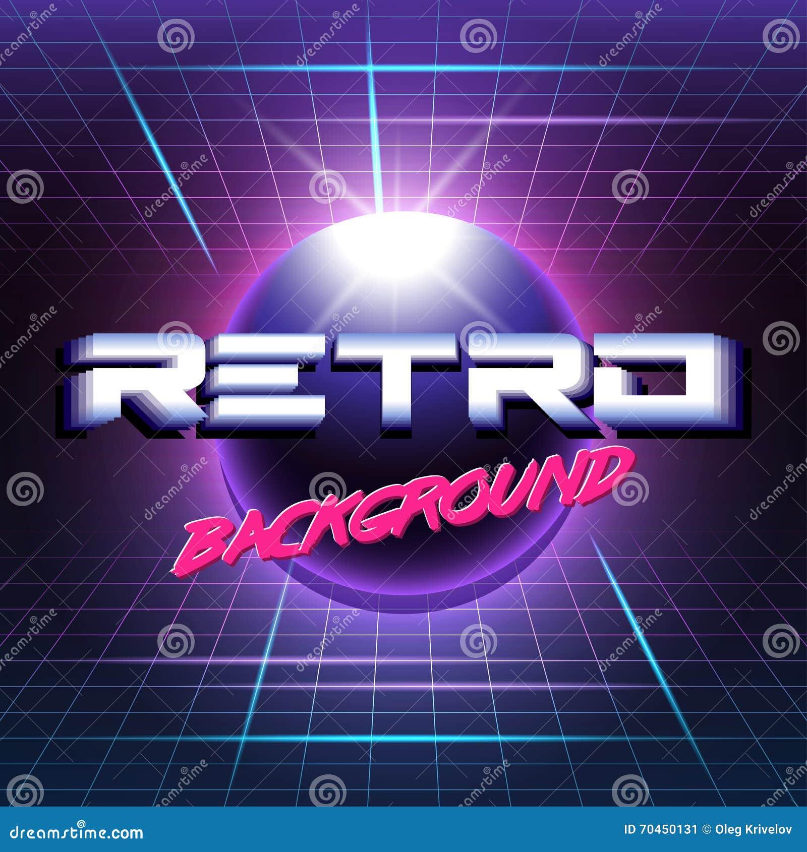 Ретро sci fi background3