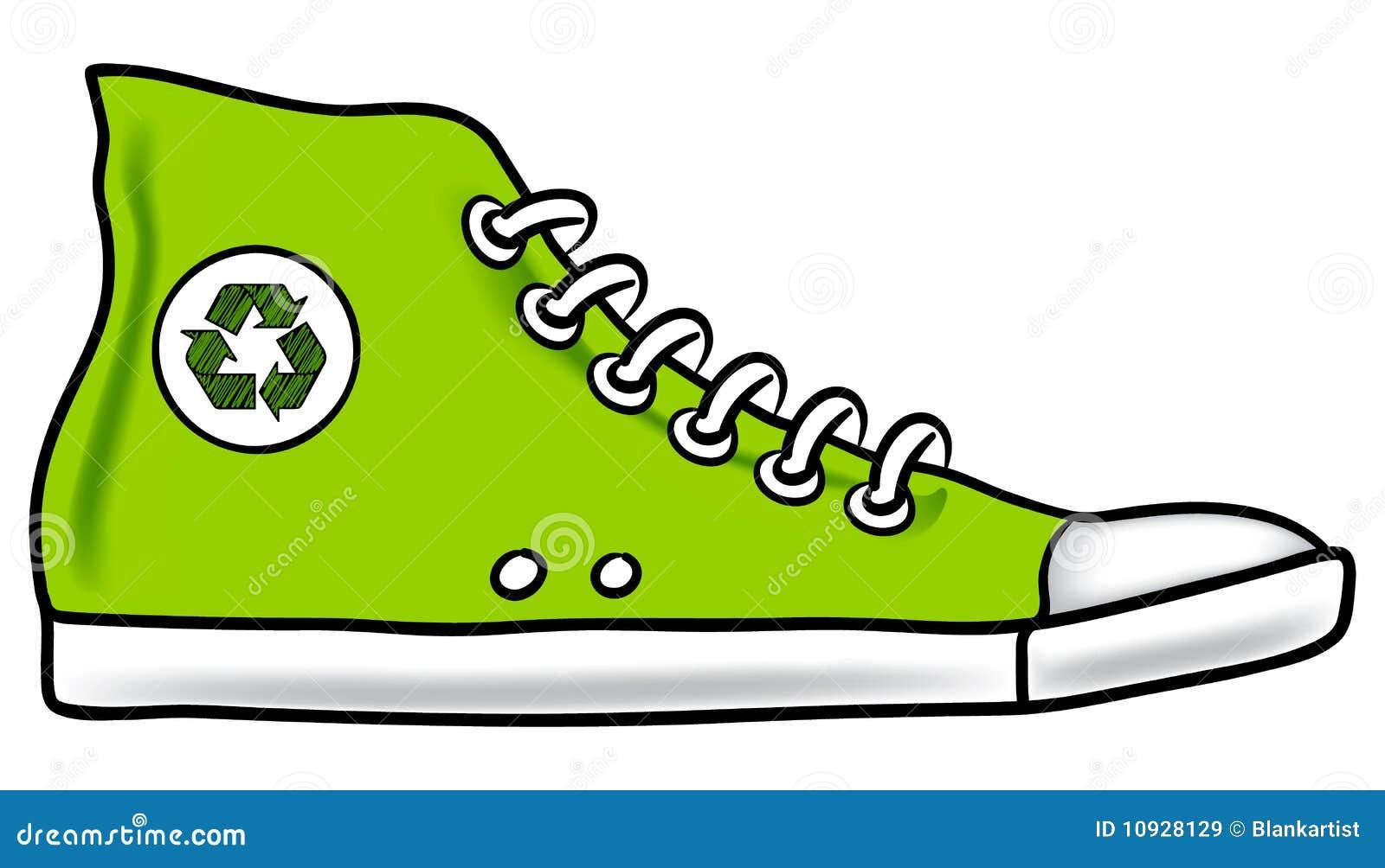 рециркулируйте идущий ботинок