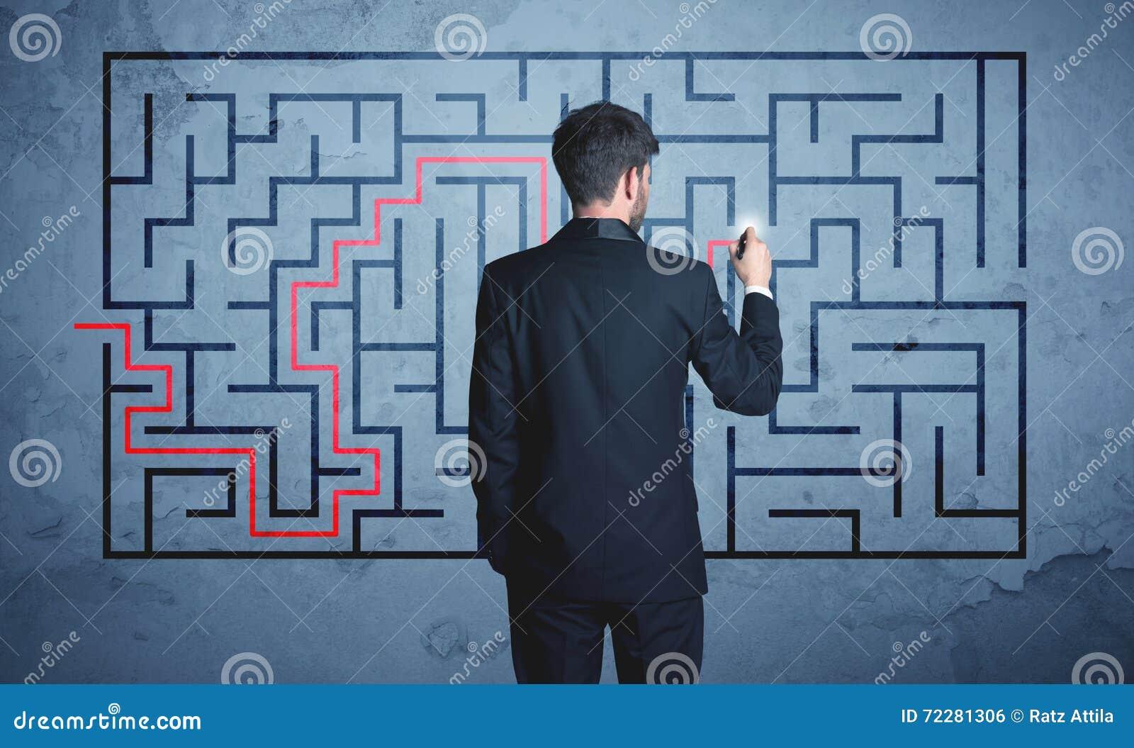 Download Решение лабиринта стоковое фото. изображение насчитывающей план - 72281306