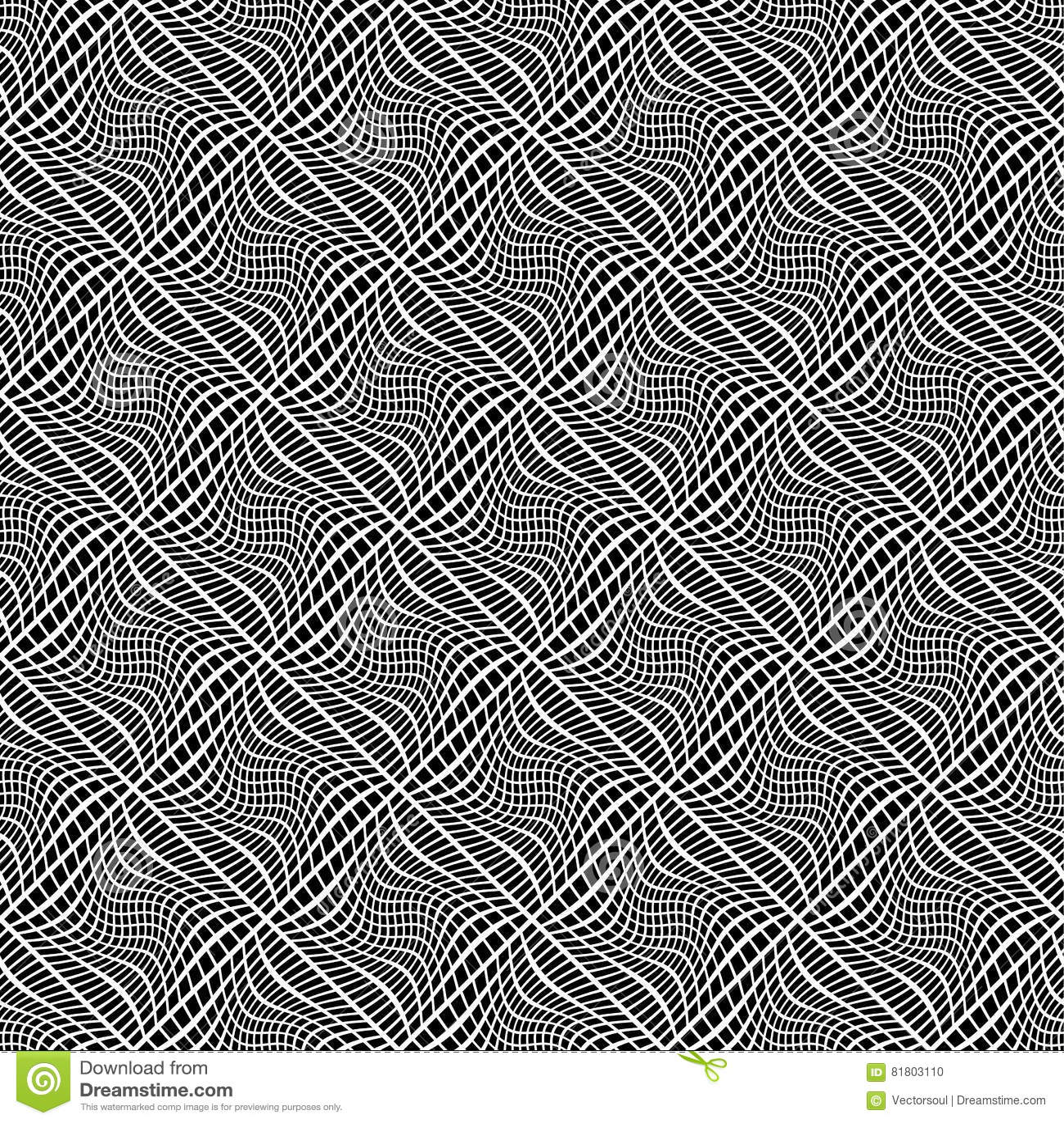 Решетка, искажение сетки Линии Deformed пересекая Геометрическое PA