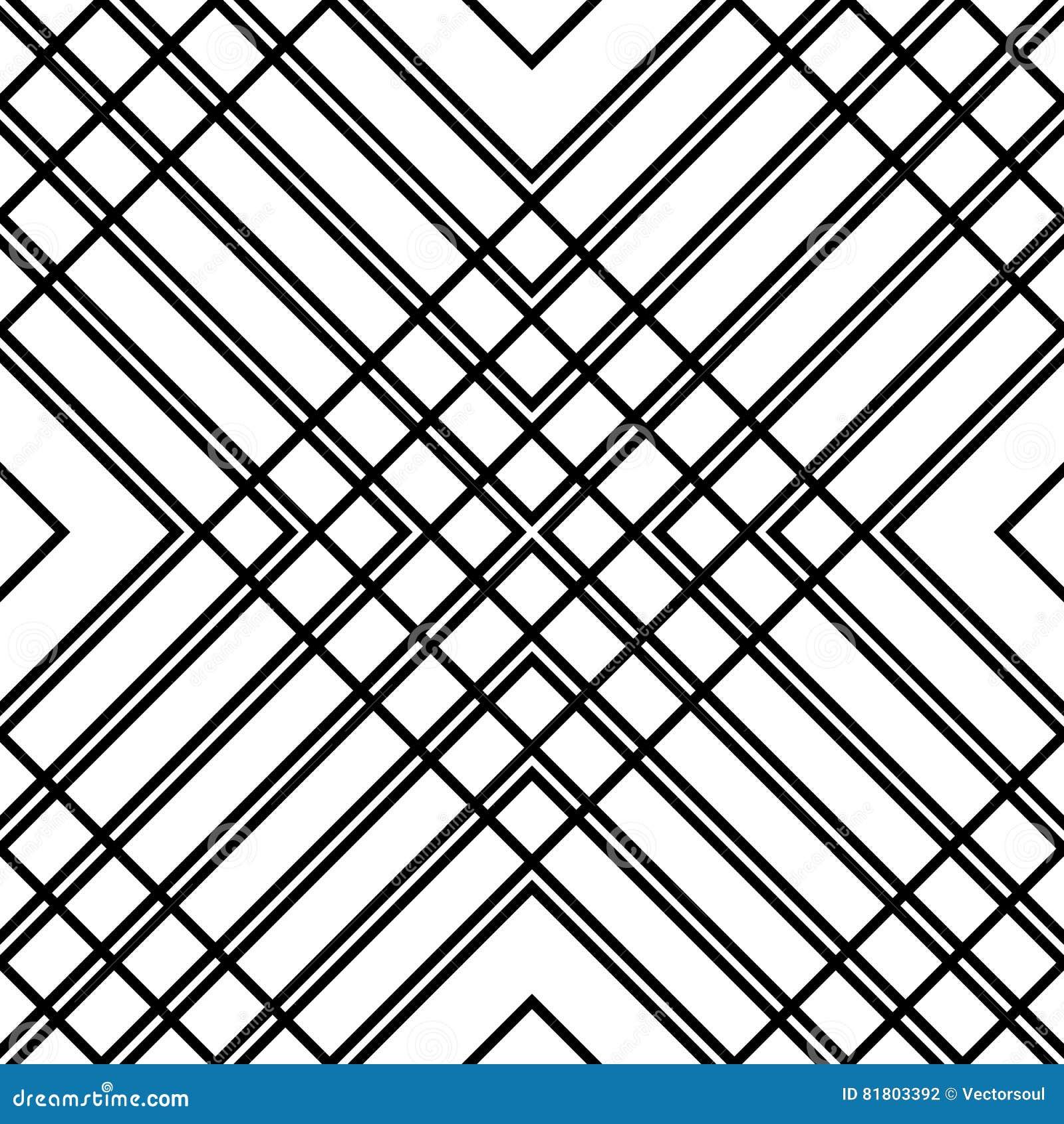 Решетка, картина сетки безшовная геометрическая Monochrome текстура Vecto