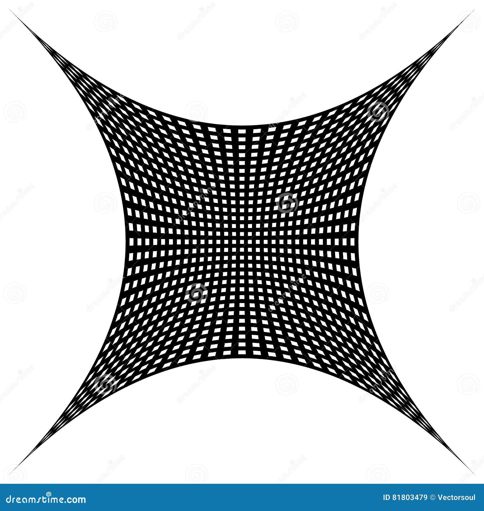 Решетка, картина сетки с искажением абстрактная геометрическая картина
