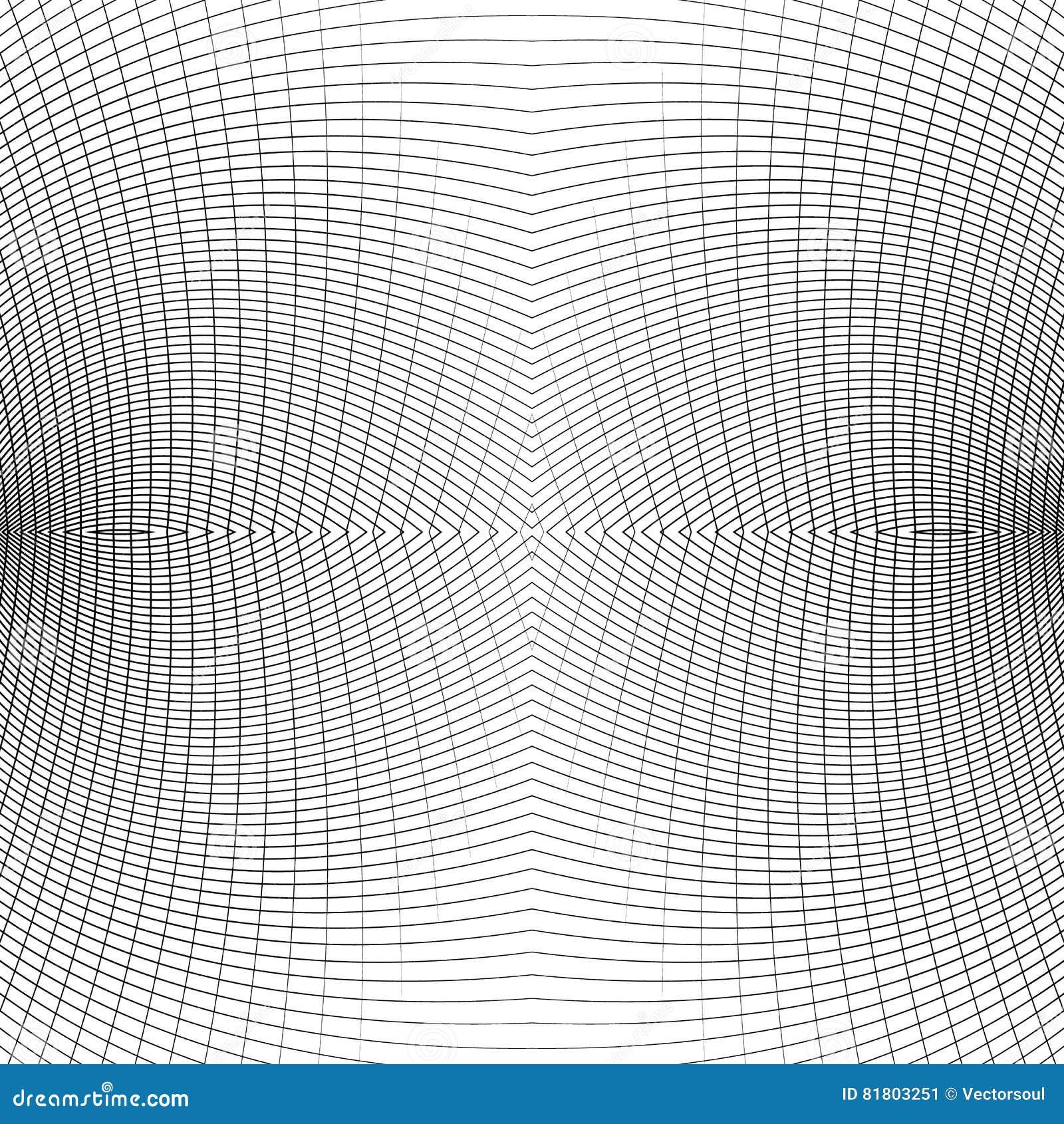 Решетка передернутых динамических линий repeatable Изогнутые линии geomet