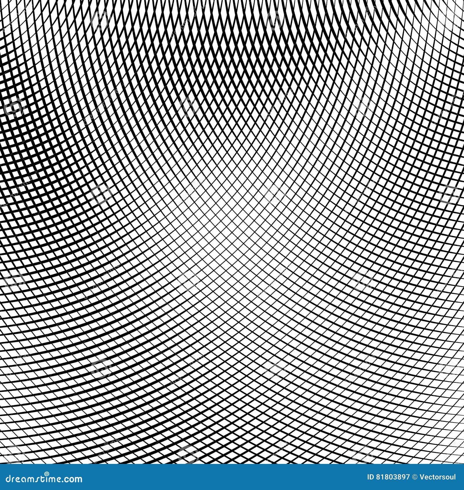 Решетка, сетка линий с динамическим эффектом искажения Геометрическое PA